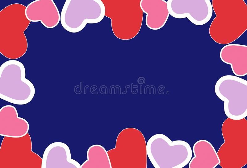 Happy Valentine's day wishes greeting card, abstract background with colourful hearts, graphic design illustration wallpaper. Happy Valentine's day stock images