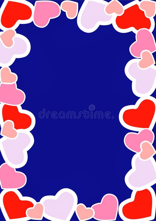 Happy Valentine's day wishes greeting card, abstract background with colourful hearts, graphic design illustration wallpaper. Happy Valentine's day royalty free stock photos