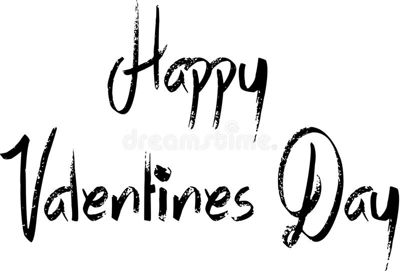 Happy Valentine`s Day. Writen on a White Background royalty free illustration