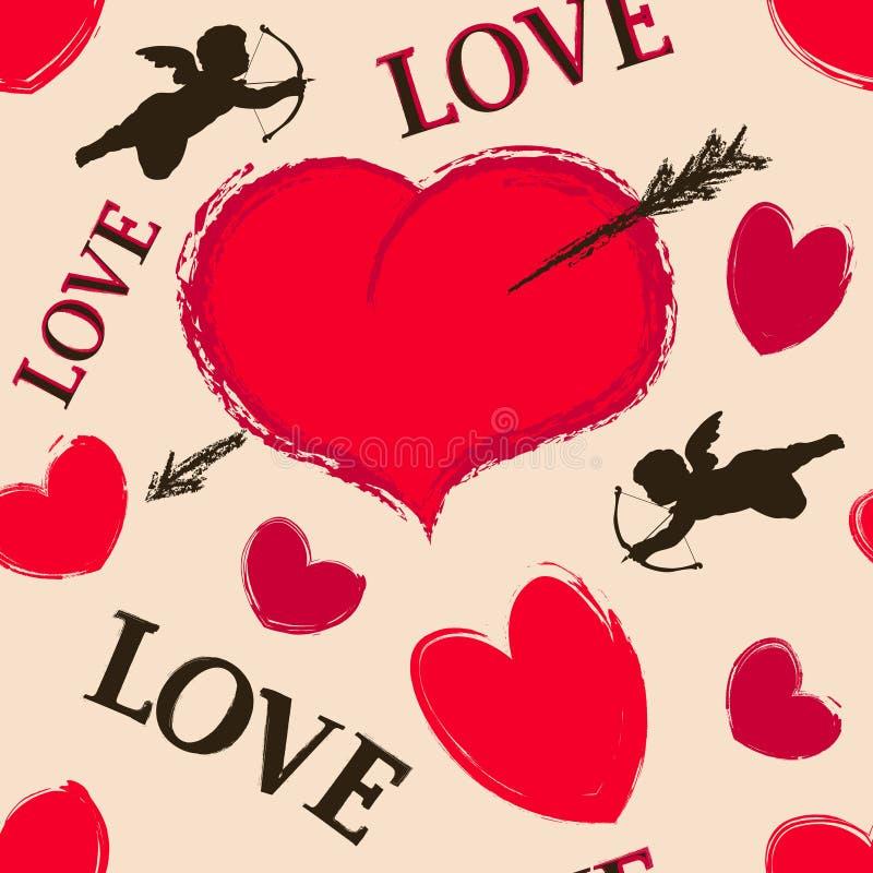 Happy valentine seamless. The vector image Happy valentine seamless royalty free illustration