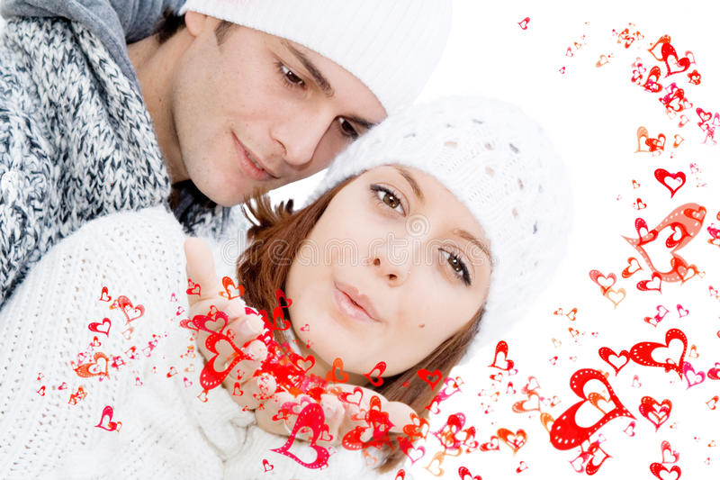 Happy valentines couple in love royalty free stock photography