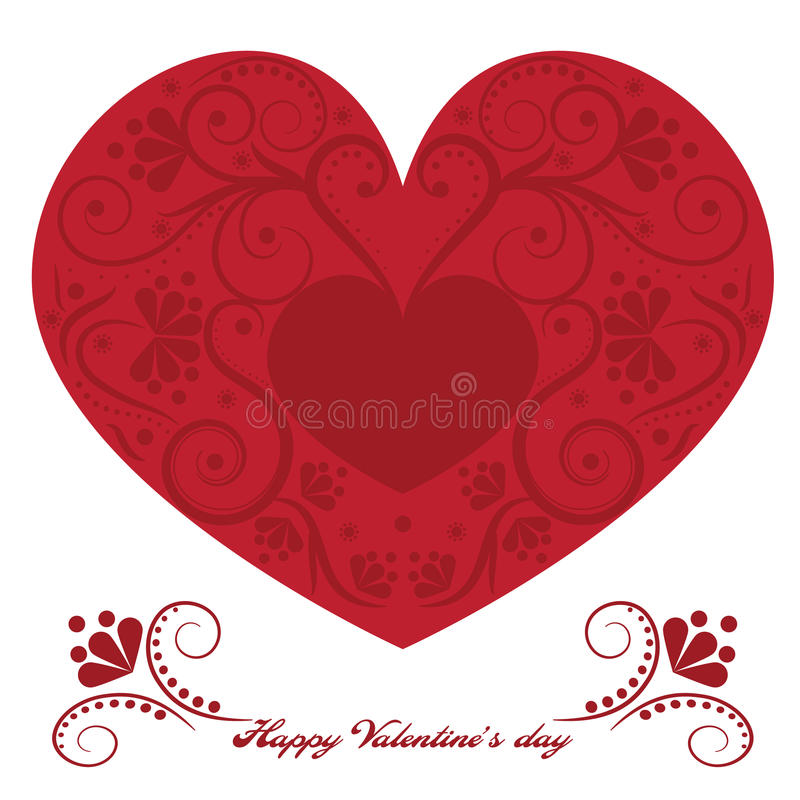 Happy Valentines Day stock illustration