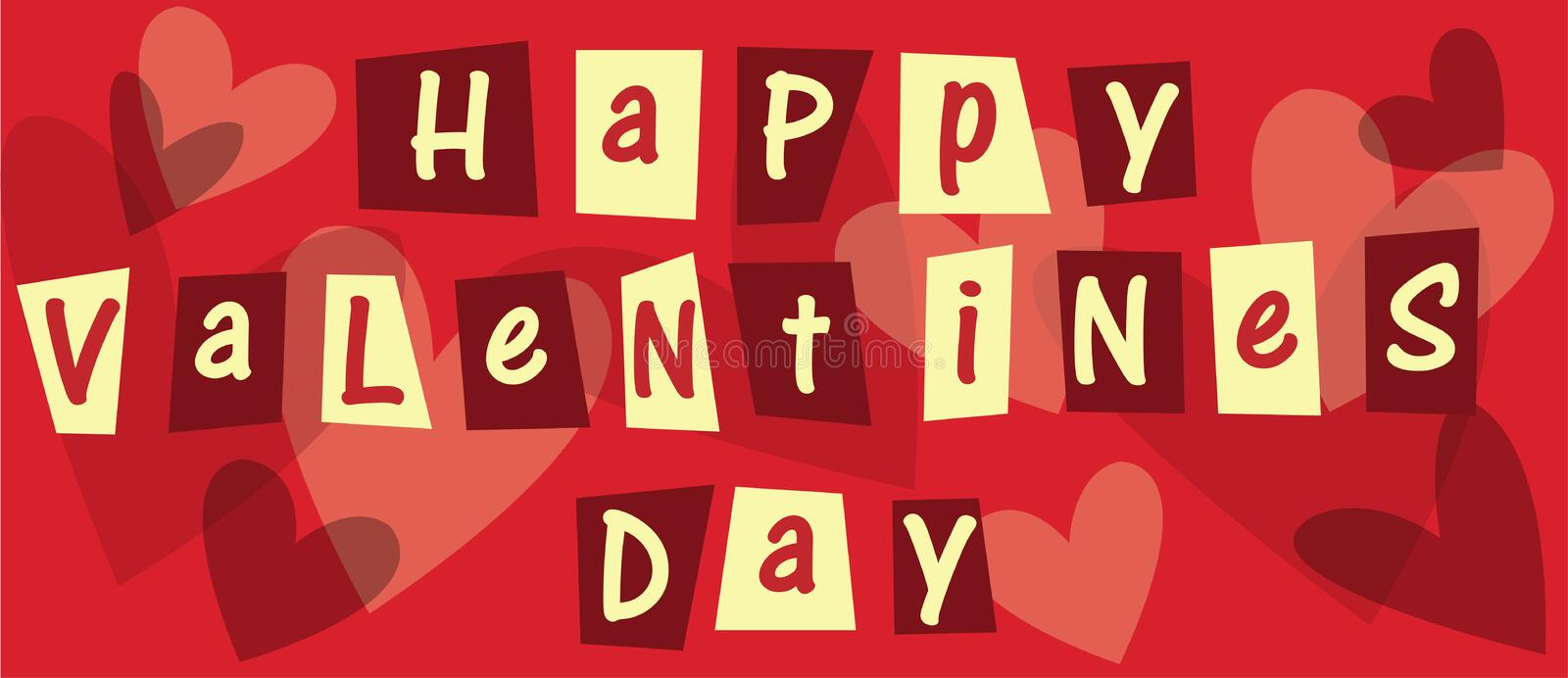 Happy Valentines Day. A lovely Valentines day picture stock illustration