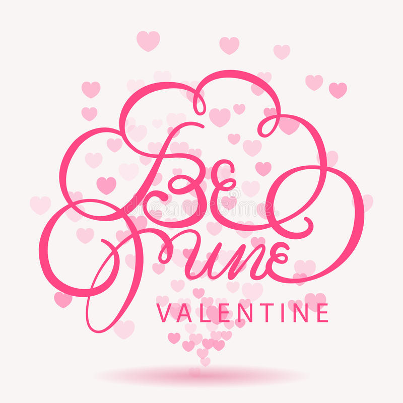 Happy valentines day bokeh background stock illustration