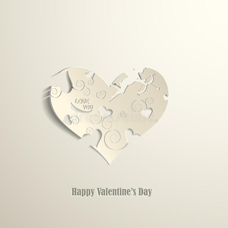 Download Happy Valentines Day card stock vector. Image of label - 28774236