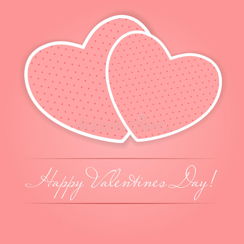 Download Happy Valentines Day Card With Heart. Vector Stock Vector - Image: 27870938