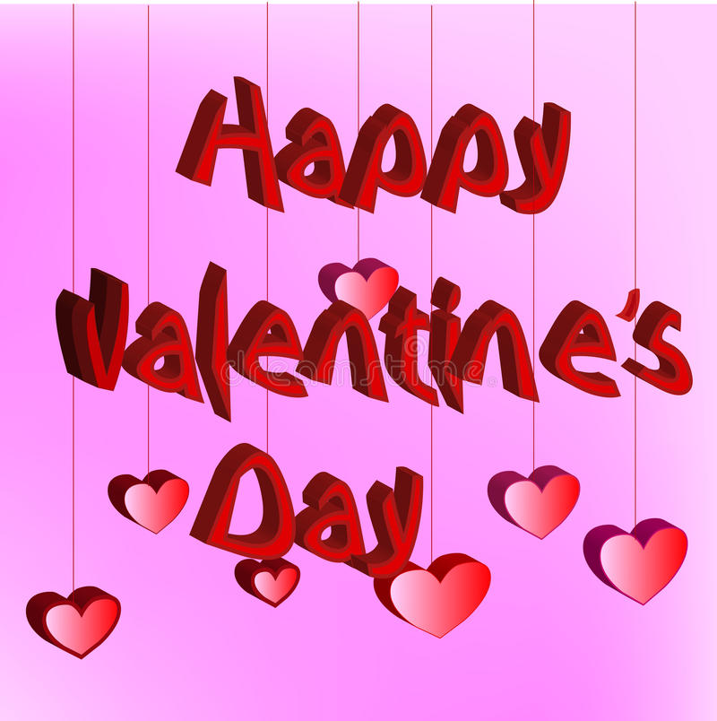 Happy Valentines Day card stock photography