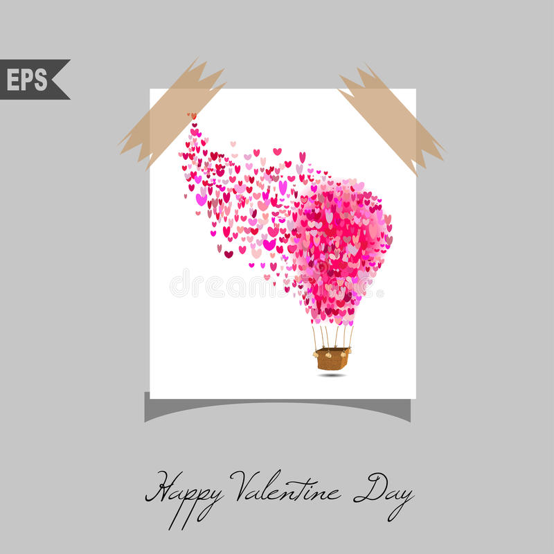 Happy valentines day cards with gift on background. Vector royalty free illustration