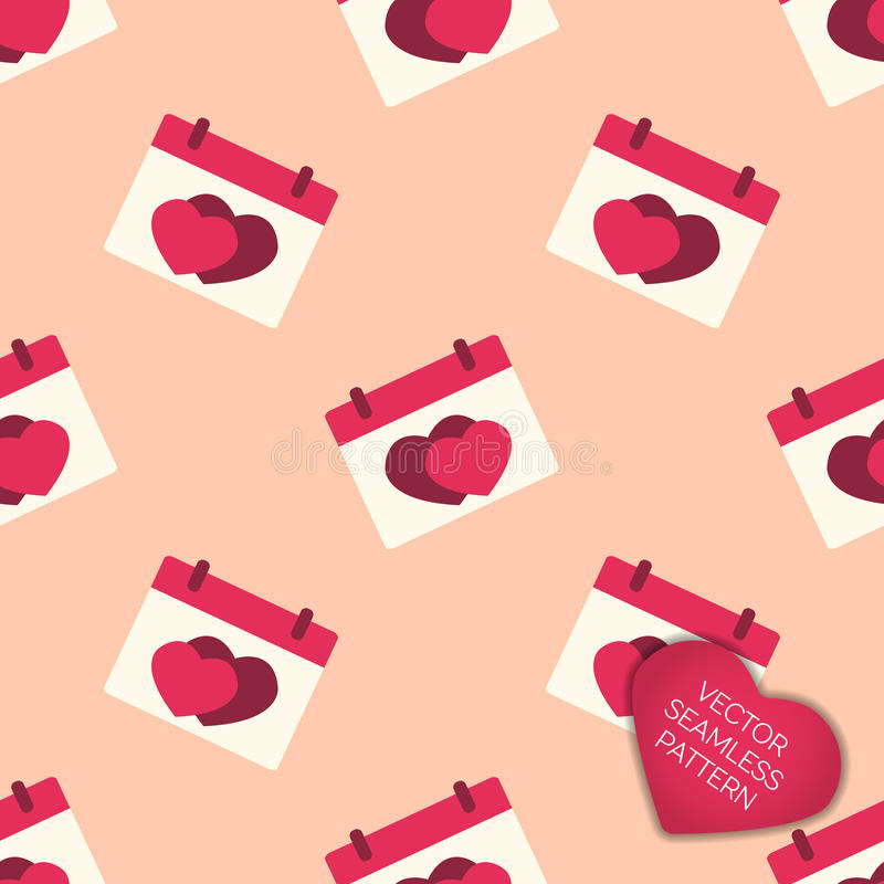 Happy Valentines day collection background stock illustration