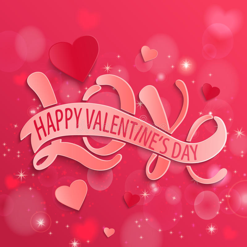 Happy Valentines Day design card, . royalty free illustration