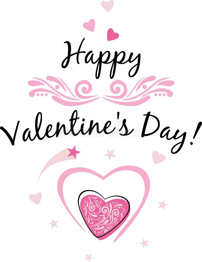 Happy Valentines Day. Festive design royalty free stock photos