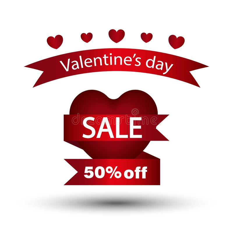 Happy Valentines Day Flyer. Template For Creating Advertising ...