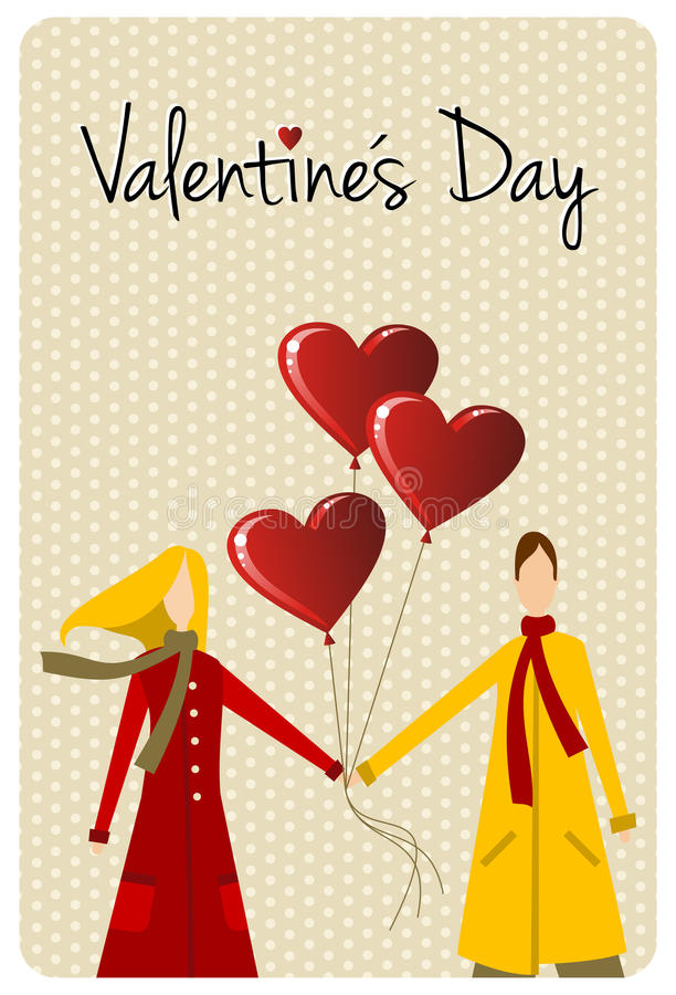 Download Happy Valentines Day Greeting Card Stock Vector - Illustration of card, saint: 23229979
