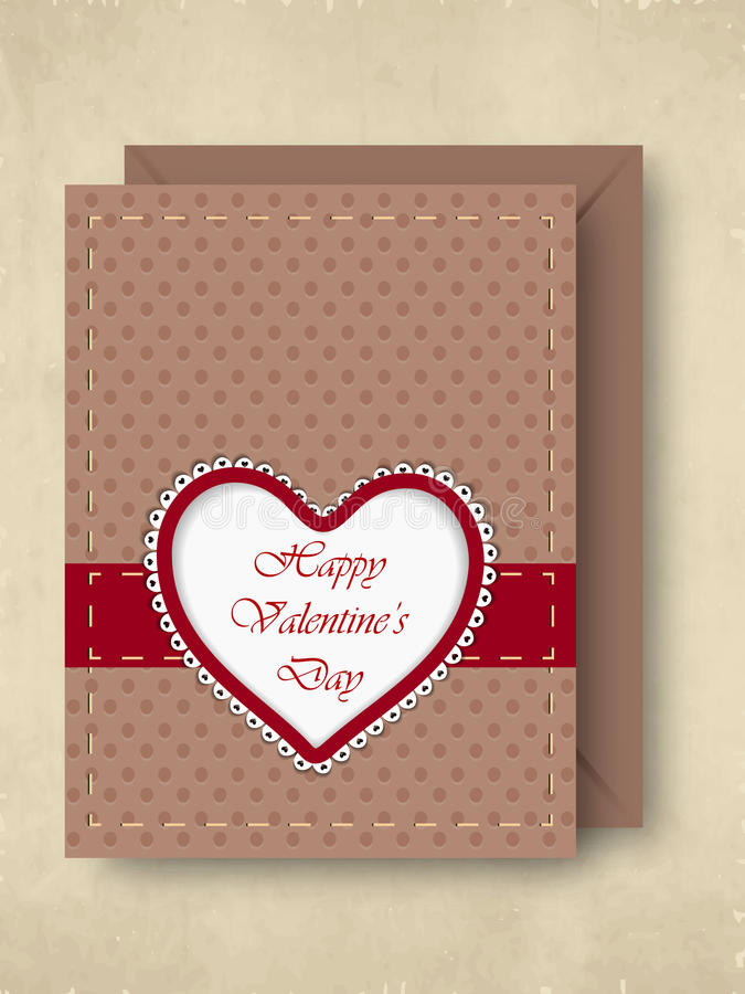 Download Happy Valentines Day Greeting Card, Gift Card Or Background. EPS Stock Illustration - Image: 28673084