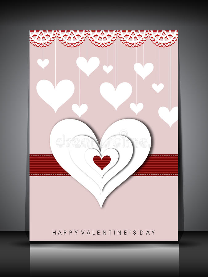 Download Happy Valentines Day Greeting Card, Gift Card Or Background. EPS Stock Illustration - Illustration: 28673090