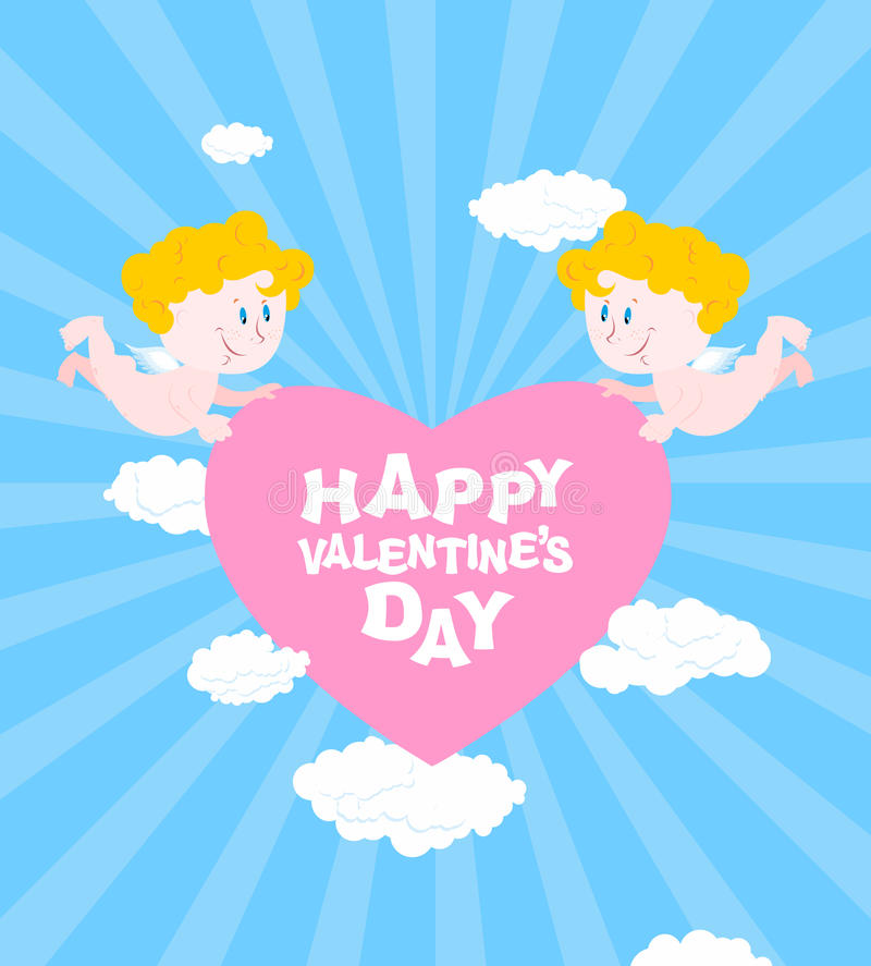 Happy Valentines day. Greeting card for Valentines day royalty free illustration