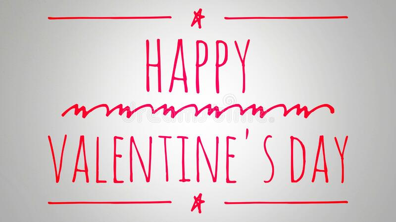 Happy Valentines Day handwriting style font text isolated with white background stock images