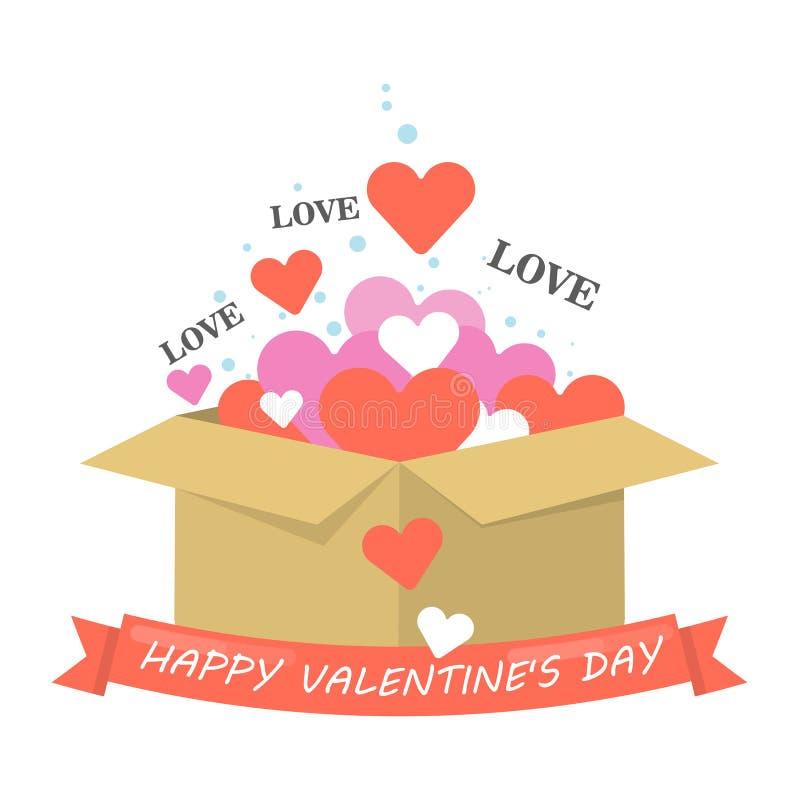 Happy valentines day. stock illustration