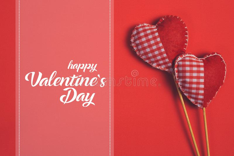Happy Valentines day and heart. - Image stock photos