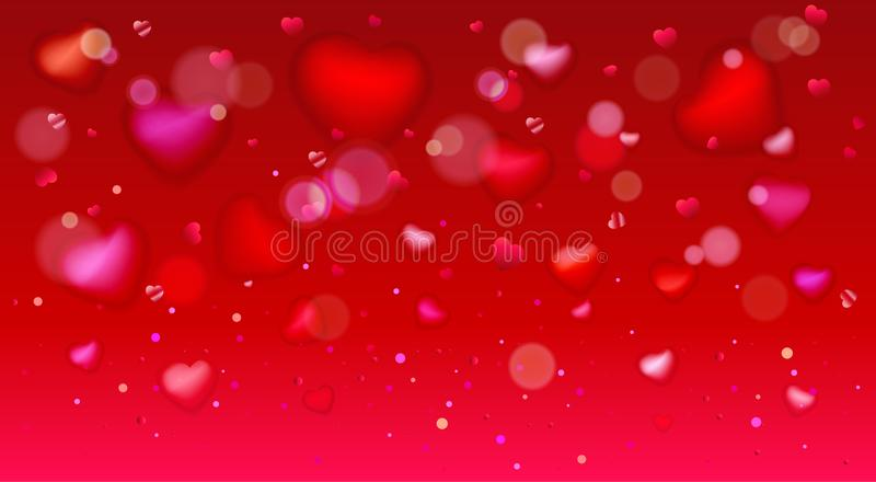 Happy valentines day hearts template greeting card vector illustration