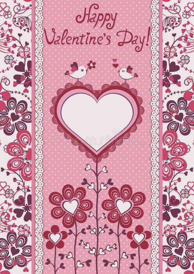Free Happy Valentines Day! Holiday Card. Stock Photography - 28600032