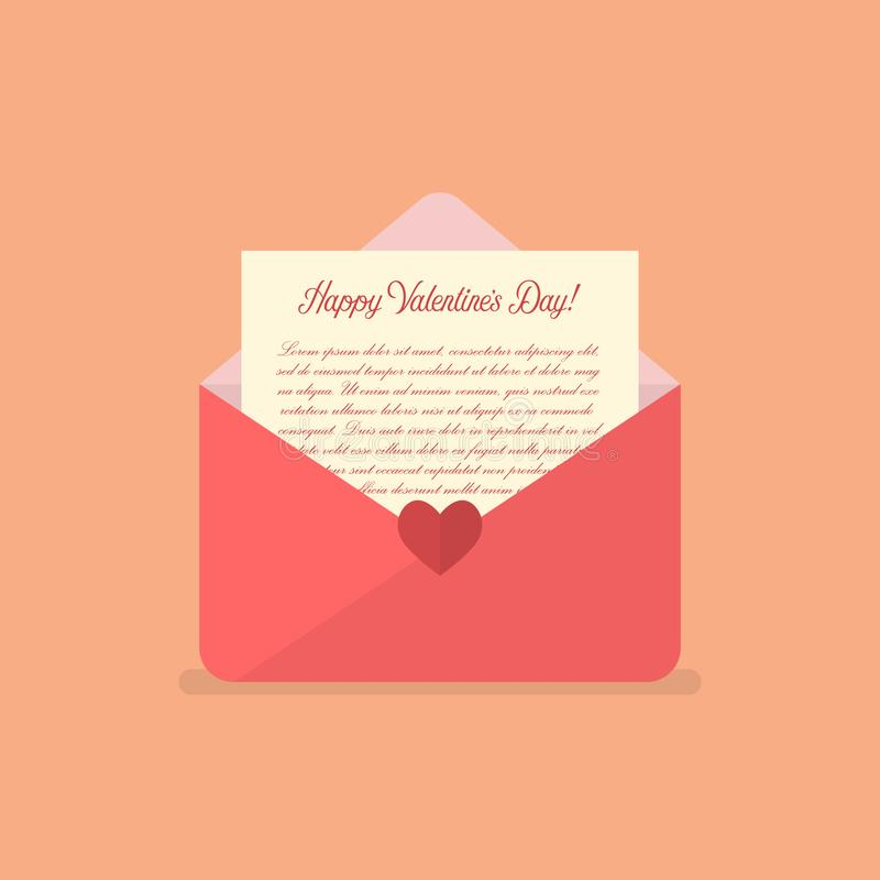 Happy Valentines day letter vector illustration