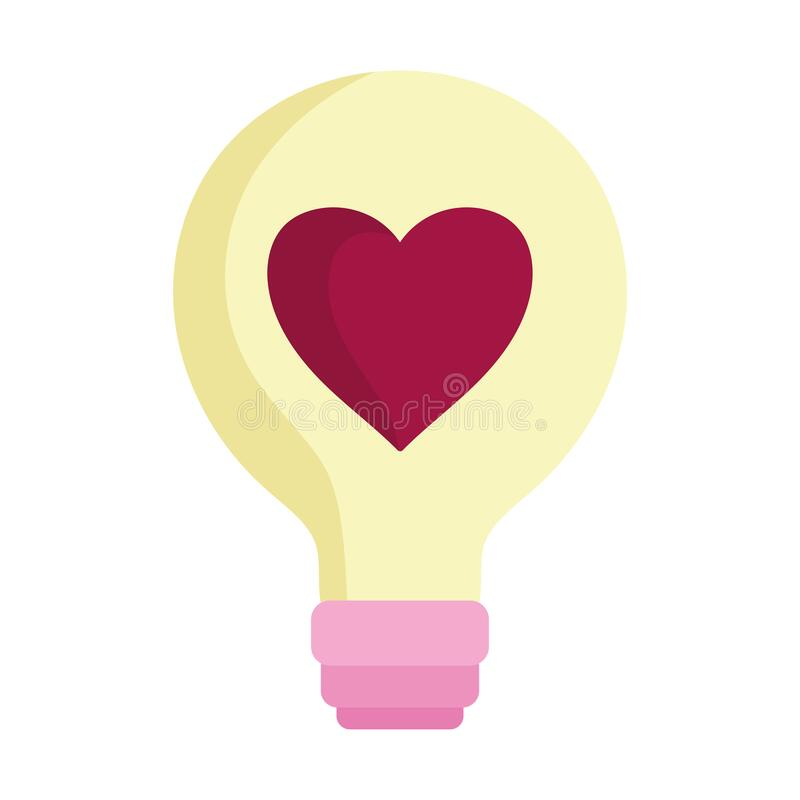 Free Happy Valentines Day, Light Bulb Heart Love Icon Stock Photography - 170334882