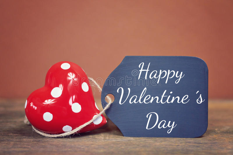 Happy valentines day. Lovely greeting card happy valentines day stock image