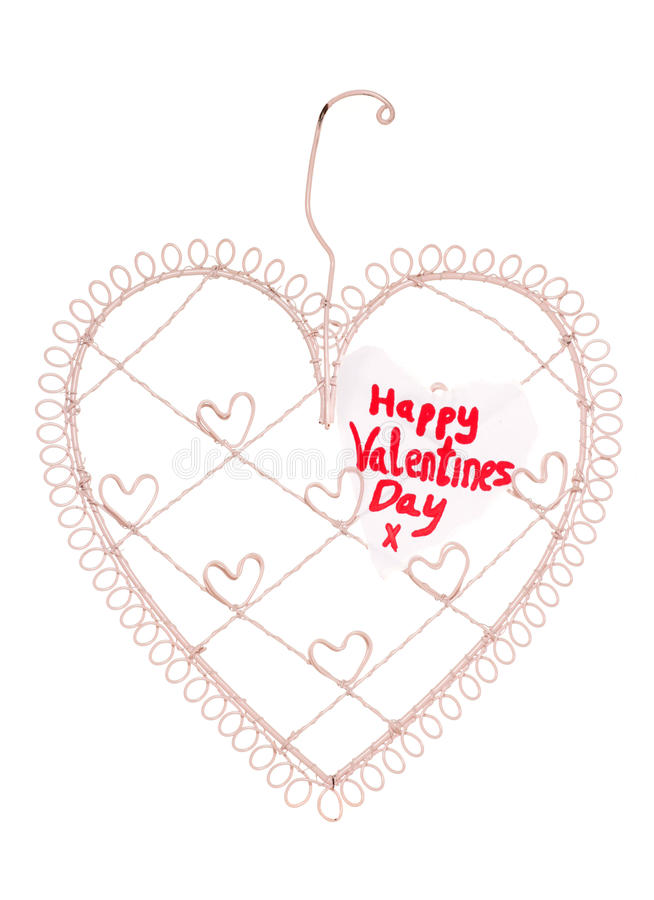 Download Happy Valentines Day Message On A Heart Note Board Stock Image - Image: 26683309
