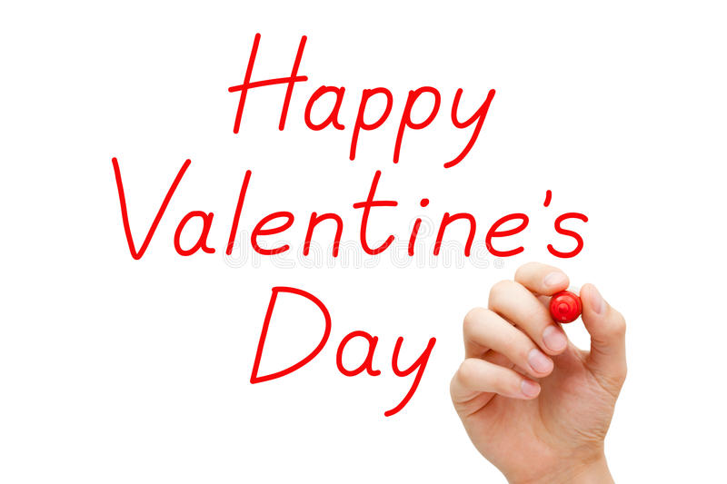 Download Happy Valentines Day Red Marker Stock Photo - Image: 36448590