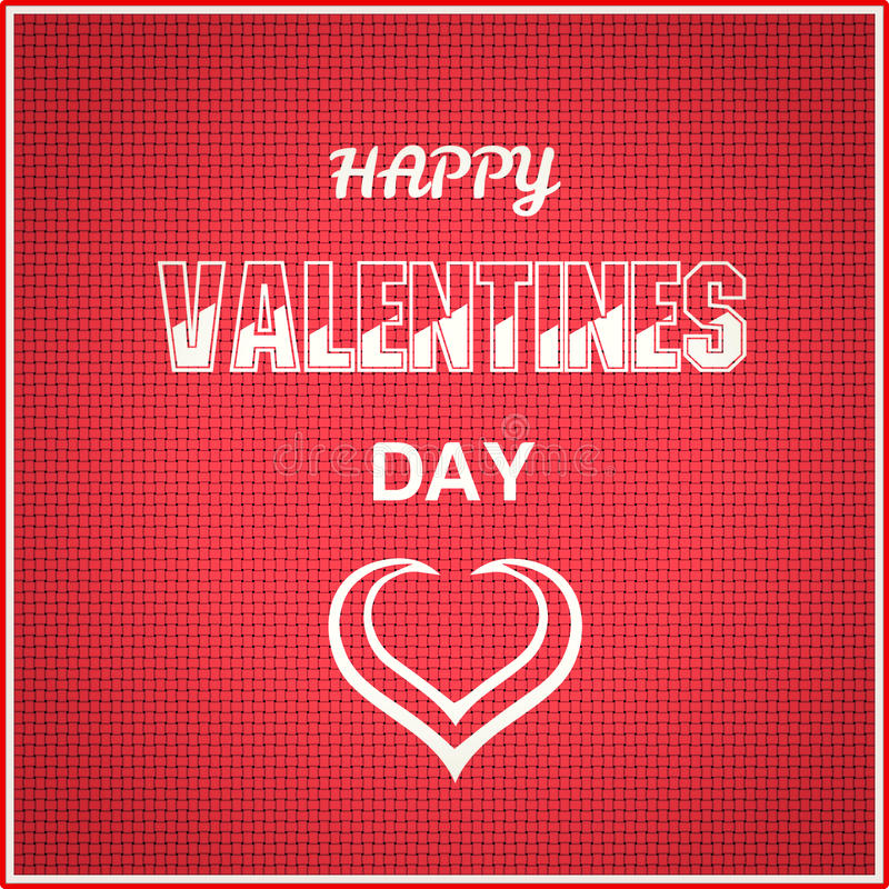 Happy valentines day on red pattern. Digitally generated Happy valentines day on red pattern vector illustration