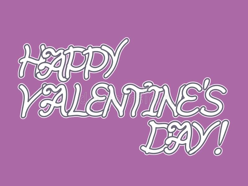 Happy valentines day text art with poster design. Happy valentines day text art with poster design isolated on pink background stock images