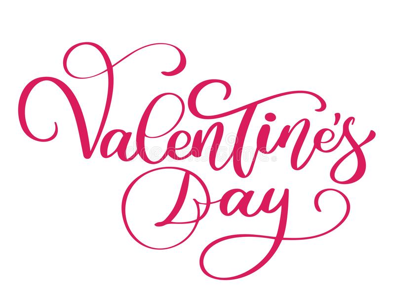 Happy Valentines Day typography poster with handwritten calligraphy text, isolated on white background. Vector valentine vector illustration