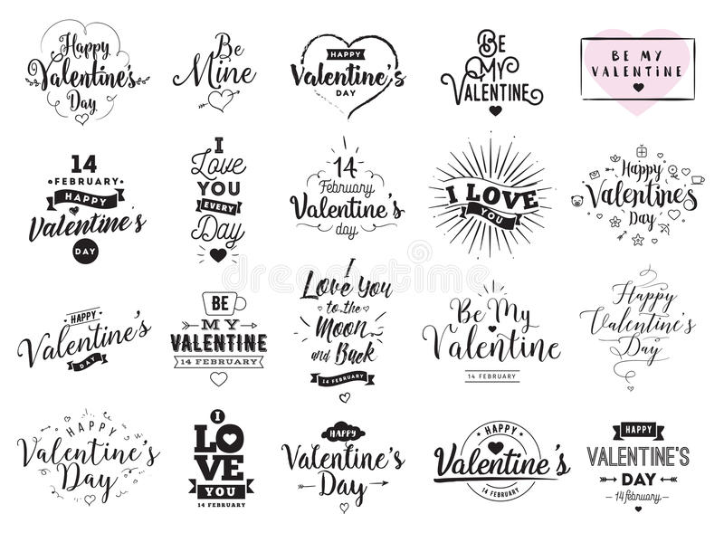 Download Happy Valentines Day Typography. Vector Design. Stock Vector - Image: 83706857