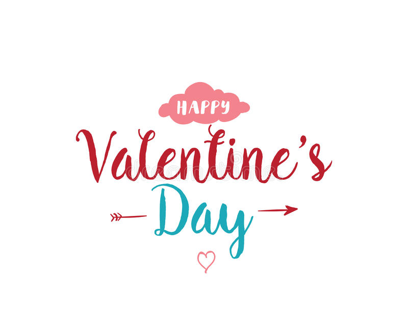 Download Happy Valentines Day Typography. Vector Design. Stock Vector - Image: 83707863