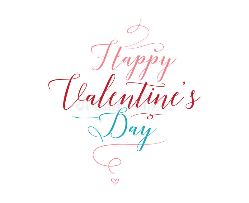Download Happy Valentines Day Typography. Vector Design. Stock Vector - Image: 83707889