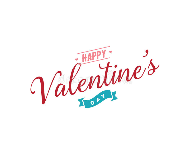 Download Happy Valentines Day Typography. Vector Design. Stock Vector - Image: 83707890
