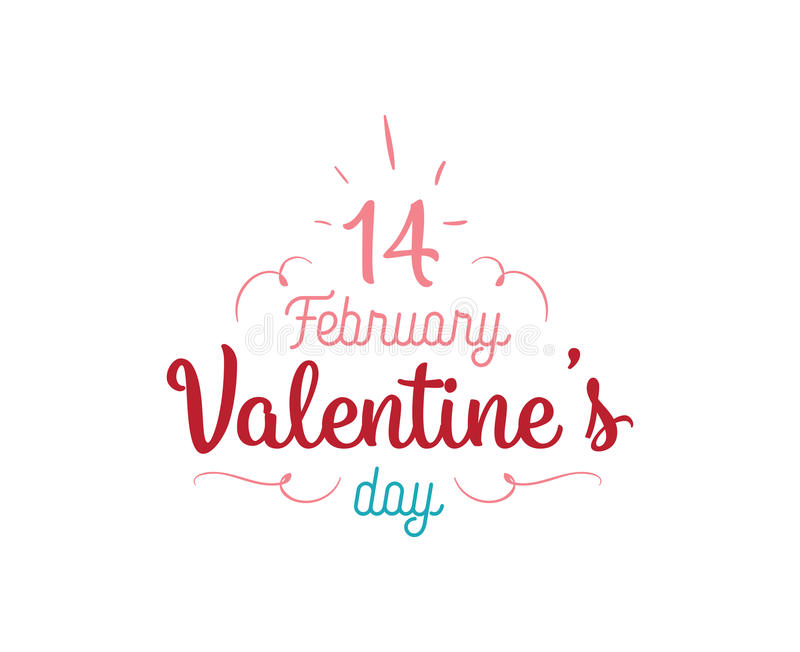 Download Happy Valentines Day Typography. Vector Design. Stock Vector - Image: 83707897