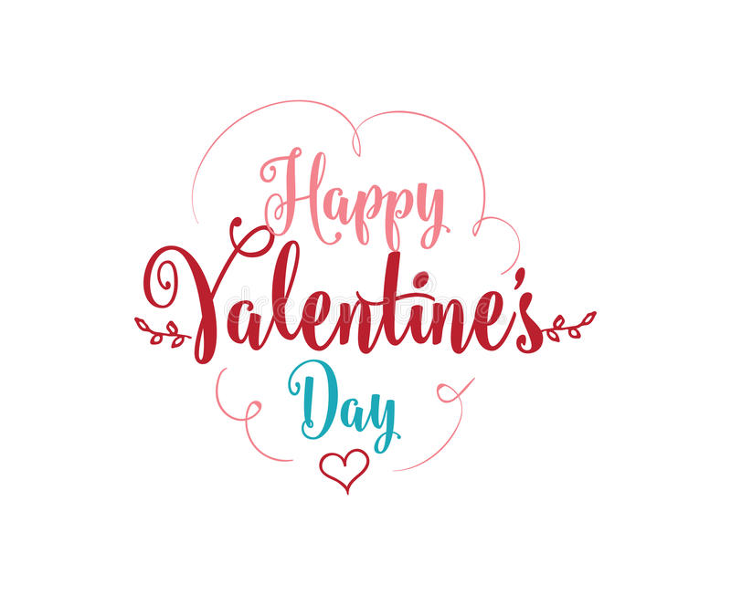 Download Happy Valentines Day Typography. Vector Design. Stock Vector - Image: 83707959