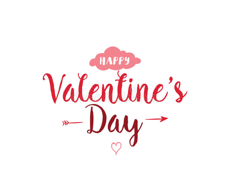 Happy Valentines day typography. Vector design. Happy Valentines day typography. Vector text design. Usable for banners, greeting cards, gifts etc. 14 february royalty free illustration