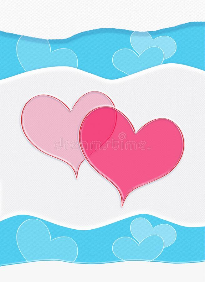 Happy Valentines Day, Valentine card, vertical composition. Happy Valentines Day, Valentine card, Holidays. Abstract Background. Festive Vertical Decorative stock illustration