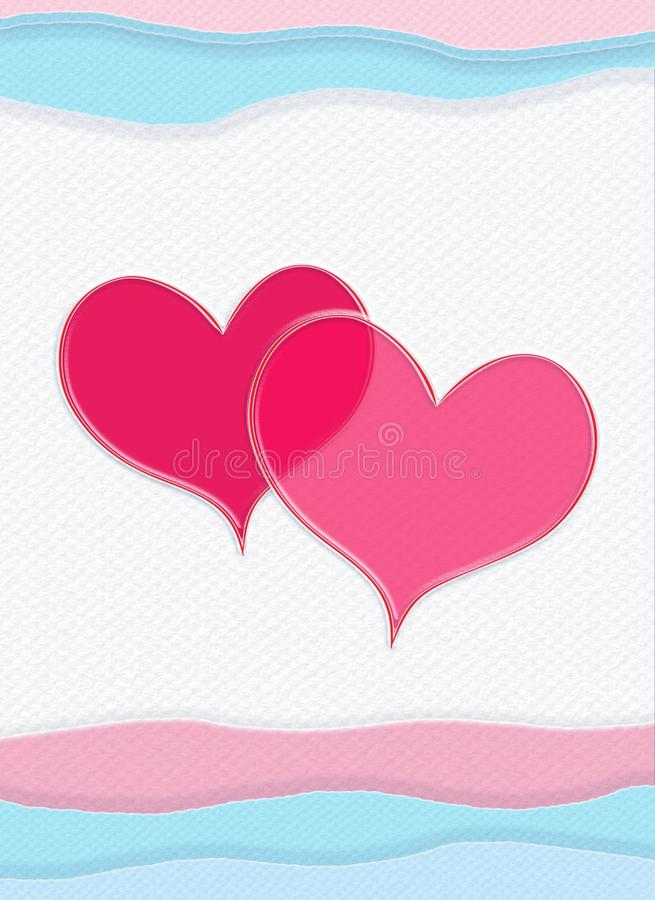 Happy Valentines Day, Valentine card, vertical composition. Happy Valentines Day, Valentine card, Holidays. Abstract Background. Festive Vertical Decorative vector illustration