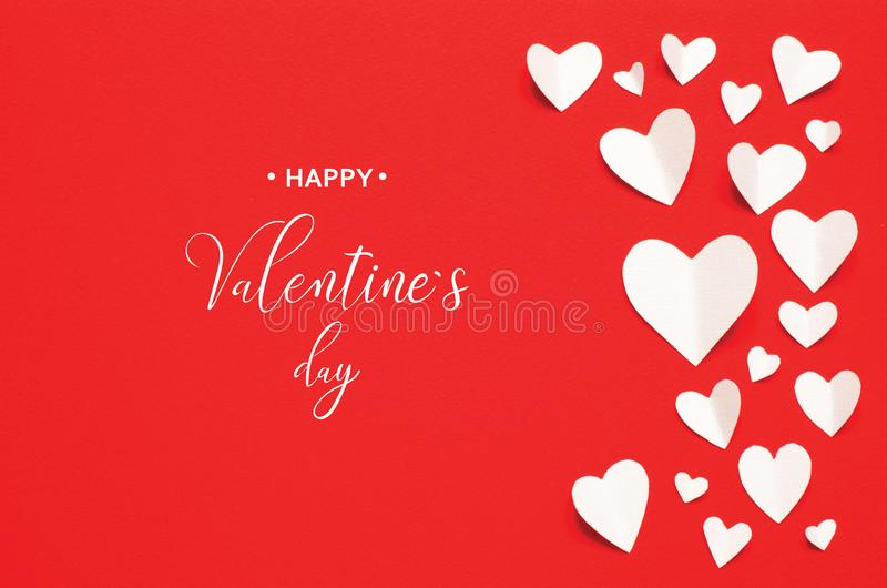 Valentine`s Day greeting card royalty free stock photo