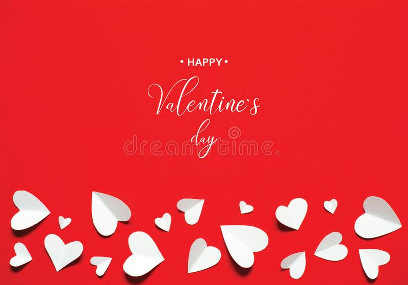 Valentine`s Day greeting card vector illustration