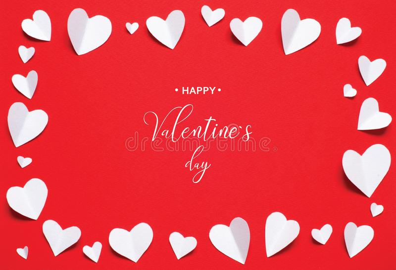 Valentine`s Day greeting card stock photography