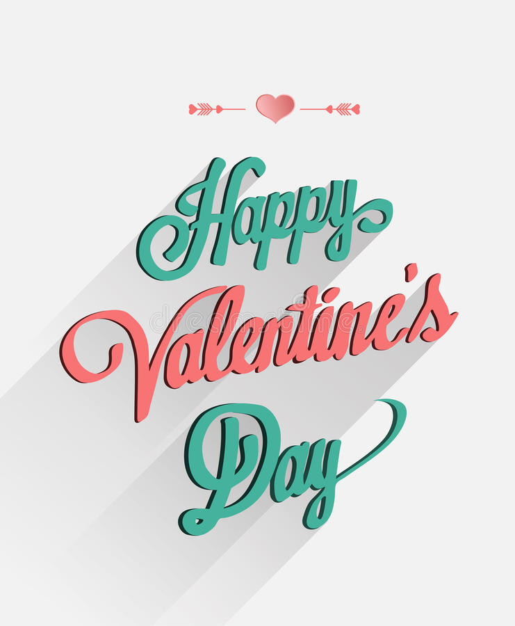 Happy valentines day vector in cursive font. Digitally generated Happy valentines day vector in cursive font stock illustration