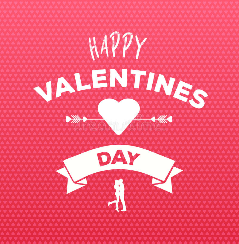 Happy valentines day vector on pink pattern. Digitally generated Happy valentines day vector on pink pattern stock illustration