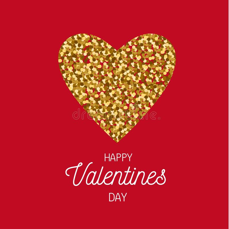 Happy Valentines day vector postcard, banner, poster, background concept royalty free illustration