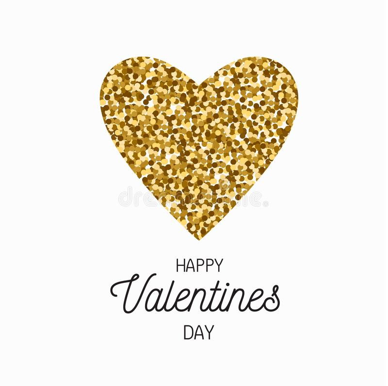 Happy Valentines day vector postcard, banner, poster, background concept stock illustration