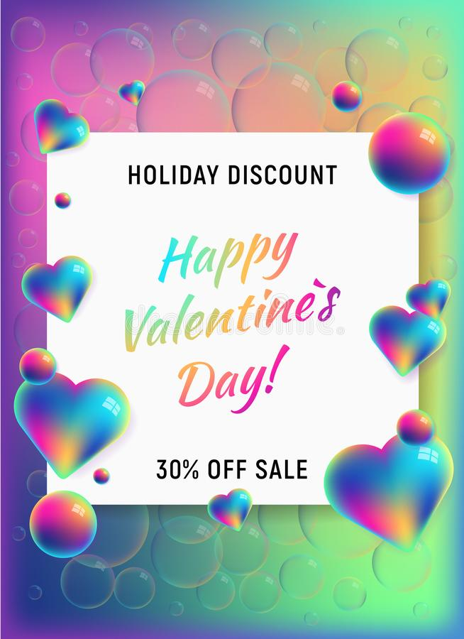 Happy valentines day vertical background stock illustration